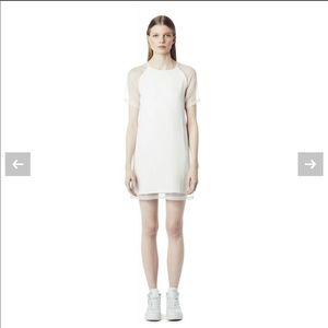 Ash Studio Paris White Prince Dress Mesh Sleeves
